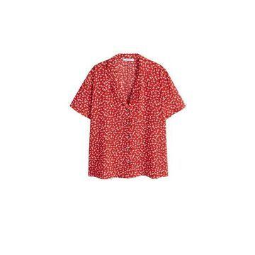 Violeta BY MANGO - Floral print shirt red - 12 - Plus sizes