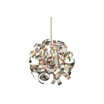 Artcraft Lighting Bel Air Pendant, Brushed Nickel