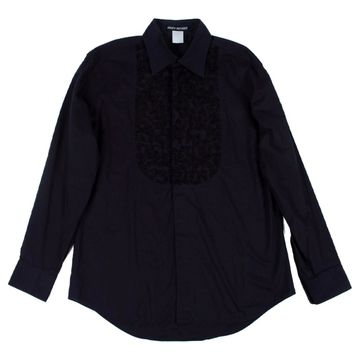 Issey Miyake Black Cotton Shirts