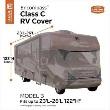 Classic Accessories Encompass Class C Cover (Class C RVs 23'-26'L, 122