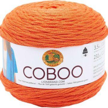 Lion Brand Coboo Orange
