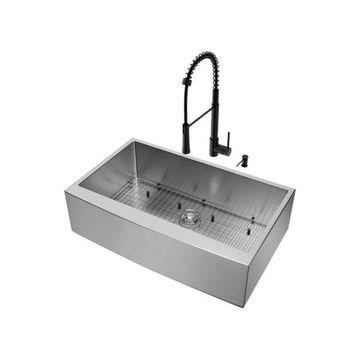 Vigo Vg15478 Combination Kitchen Sink Fixture
