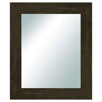 Rectangle Reclaimed Wood Vanity Decorative Wall Mirror Black - PTM Images