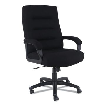 Alera Kesson Series High-Back Office Chair, Supports up to 300 lbs., Black Seat/Black Back, Black Base - Clear (Clear)