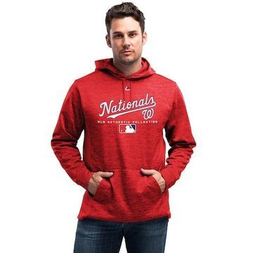 Majestic MLB Player On Field Hoodie - Washington Nationals - Team Scarlet