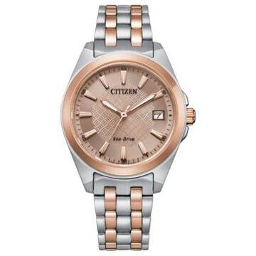 Citizen Eco-Drive Women's Corso Two-Tone Stainless Steel Bracelet Watch 33mm