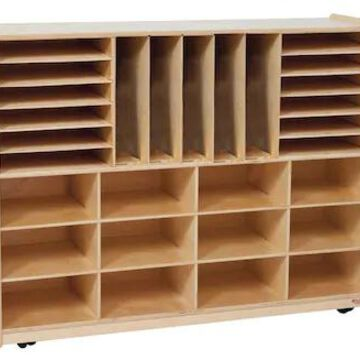 Wood Designs Multi-Sectioned Storage Center Without Trays, Birch | Quill
