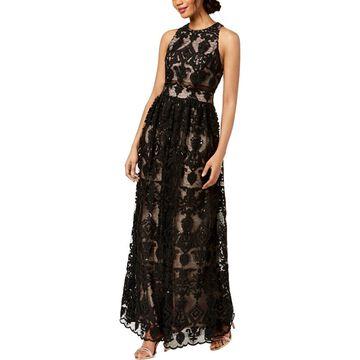 Betsy & Adam Womens Sleeveless Full-Length Evening Dress