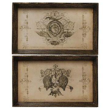 Decorative Trays - Set of 2 - A&B Home