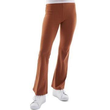 Bcx Juniors' Brushed-Rib Flare-Leg Pants