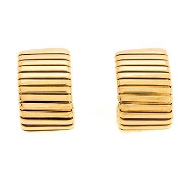 Bvlgari Tubogas 18K Yellow Gold Clip-on Huggie Earring