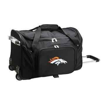 Denco Denver Broncos 22-Inch Wheeled Duffel Bag