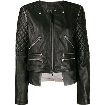 quilted sleeves jacket
