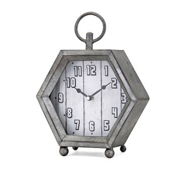 IMAX 16300 Hawkins Galvanized Clock, Gray