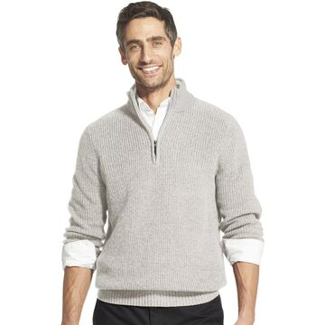 Men's IZOD Classic-Fit Sherpa Collar Quarter-Zip Pullover Sweater