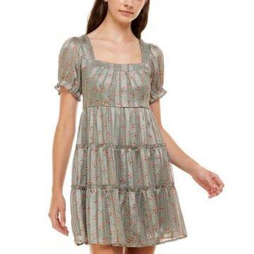Trixxi Juniors' Printed Tiered Dress