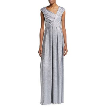 Asymmetric Stretch Mirrorball Gown
