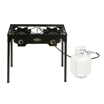 Stansport 2-burner Cast Iron Stove with Stand