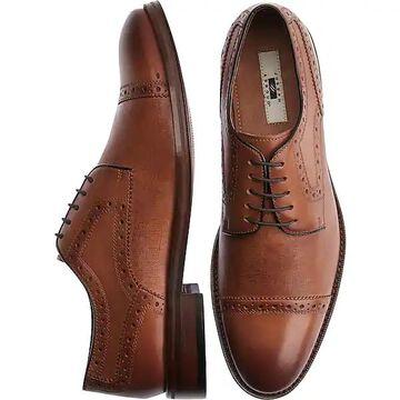 Joseph Abboud Men's Saffiano Honey Cap Toe Derbys Casual Shoes - Size: 8.5 D-Width