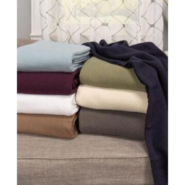Superior Chevron Woven All Season Blanket, King Bedding