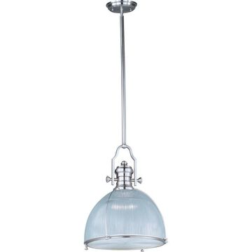 Maxim Lighting Hi-Bay Satin Nickel Modern/Contemporary Clear Glass Cone Pendant Light