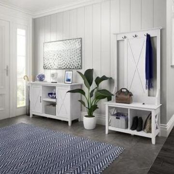 Key West Entryway Storage Set with 2 Door Cabinet by Bush Furniture