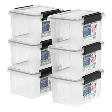 Iris Clear WEATHERTIGHT Storage Box, 6 Pack