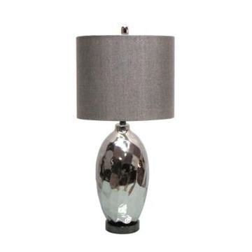 Jeco Ceramic Table Lamp with Metal Base