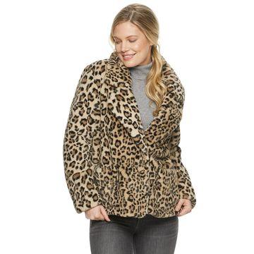 Women's Ellen Tracy Cropped Faux Fur Jacket