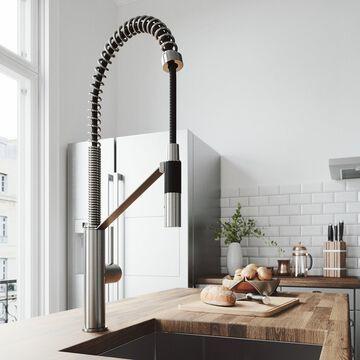VIGO Livingston Stainless Steel Magnetic Kitchen Faucet