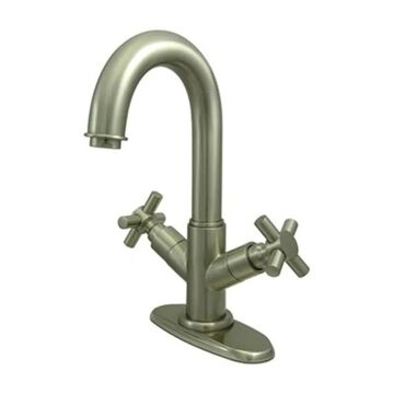 Elements of Design Concord Brushed Nickel 2-handle 4-in Centerset Bathroom Sink Faucet with Drain | ES8458JX