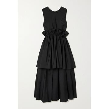 REDValentino - Ruffled Asymmetric Taffeta Dress - Black