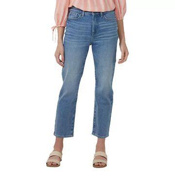Petite LC Lauren Conrad High-Waisted Slim Straight Jeans, Women's, Size: 14 Petite, Light Blue