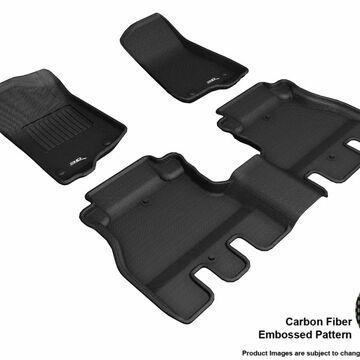 L1JP01901509 Kagu R1 R2 Floor Mat for 2018 Jeep Wrangler Jl Unlimited, Black