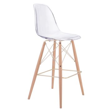 Zuo Modern Shadow Bar Chair - Natural