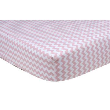 Trend Lab Pink Sky Chevron Fitted Crib Sheet