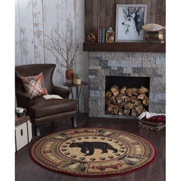 Bliss Rugs Bristol Novelty Indoor Round Area Rug