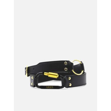 Aries Bobby Leather Belt With Studs