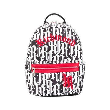 John Richmond Black And Whitek Backpack