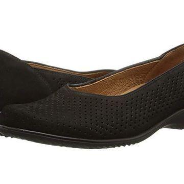 ara Avril (Black Nubuk) Women's Slip on Shoes