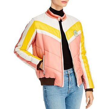 Mother The Peak Color-Block Puffer Jacket