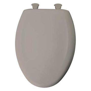 Bemis 1200SLOWT 368 Plastic Elongated Slow-Close Toilet Seat, Light Mi