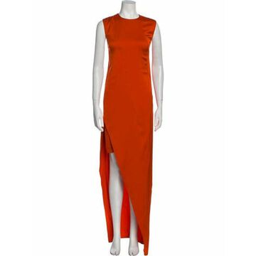Silk Long Dress Orange
