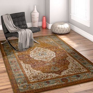 Well Woven Laurent Molly Multi Vintage Distressed Area Rug