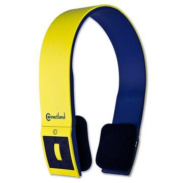 Syba CL-AUD23038 Yellow Headband Stereo Bluetooth v2.1 Headset & Mic - NEW