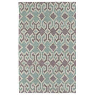 Kaleen Lakota 5 x 8 Wool Purple Indoor Damask Southwestern Area Rug Cotton   LKT05-95-579