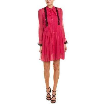 The Kooples Womens Pleated Silk Shirtdress