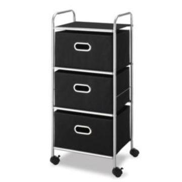 Whitmor 3 Drawer Rolling Cart