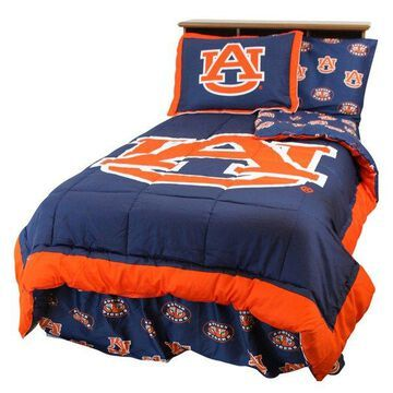 Auburn Tigers Bed in a Bag Twin, With Team Colored Sheets, Full