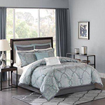 Home Essence Octavia Jacquard Bed in a Bag Comforter Bedding Set